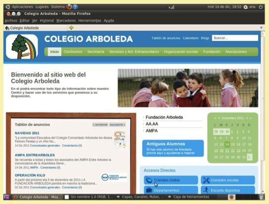 Sitio web Colegio Arboleda